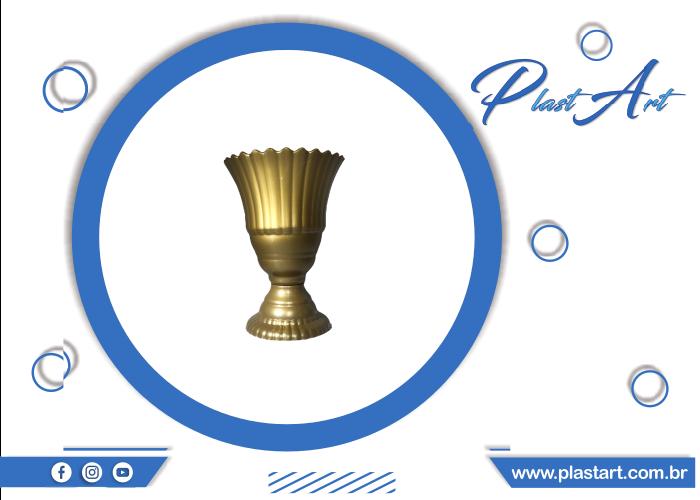 vaso real vaso decorativo vaso metalizado
